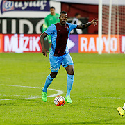 Trabzonspor's Douglas (C) during their Turkish Super League match Trabzonspor between Gaziantepspor at the Avni Aker Stadium at Trabzon Turkey on Wednesday, 28 October 2015. Photo by Aykut AKICI/TURKPIX