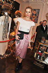 LAURA BAILEY at a party to celebrate thelaunch of Alice Temperley's flagship store Temperley, Bruton Street, London on 6th December 2012.