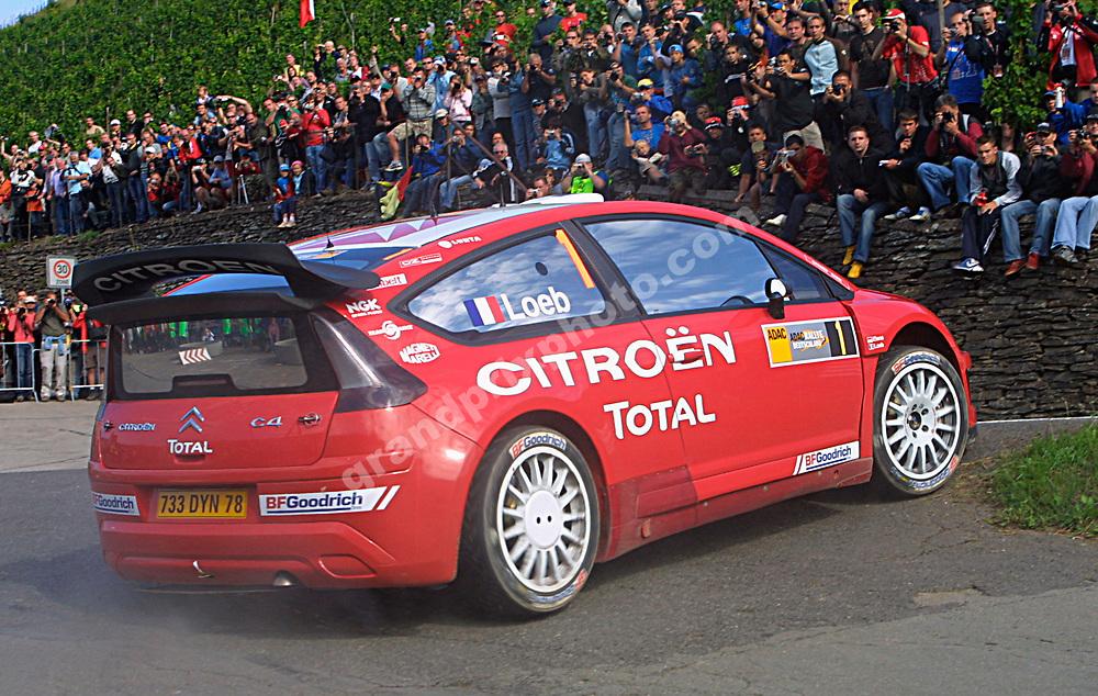 Sebastien Loeb (Citroen)  in the 2007 Rally Deutschland. Photo: Grand Prix Photo