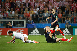 July 11, 2018 - Moscow, Vazio, Russia - Jesse LINGARD of England Ivan PERISIC of Croatia during match between England and Croatia valid for the semi final of the 2018 World Cup, held at the Lujniki Stadium in Moscow, Russia. Croatia wins 2-1. (Credit Image: © Thiago Bernardes/Pacific Press via ZUMA Wire)