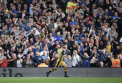 Sheffield Wednesday's Steven Fletcher celebrates scoring against Fulham