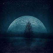 Surreal landscape at night<br /> Society6 prints: http://bit.ly/2v9Od7b<br /> Redbubble: http://rdbl.co/2uvcK8K