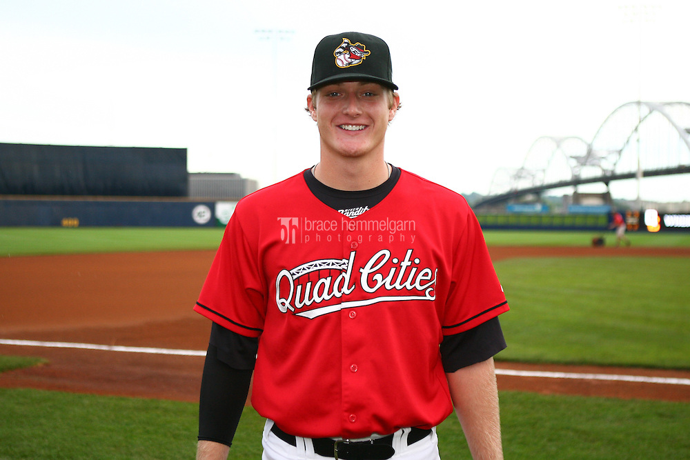 Shelby Miller of the Quad Cities River Bandits on May 25, 2010 at Modern Woodmen Park in Davenport, Iowa. Photo by Brace Hemmelgarn