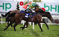 Tower Bridge and J J Slevin (right) beats Jetz<br /> in the Nathaniel Lacy & Partners Solicitors Novice Hurdle during day one of the Dublin Racing Festival at Leopardstown Racecourse.