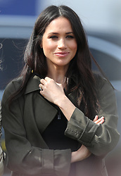 Meghan Markle at the University of Bath Sports Training Village, Bath, for the UK team trials for the Invictus Games Sydney 2018.