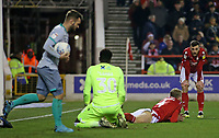 Nottingham Forest's Jack Robinson cuts a frustrated figure after Joe Worrall puts the ball into his own net<br /> <br /> Photographer David Shipman/CameraSport<br /> <br /> The EFL Sky Bet Championship - Nottingham Forest v Blackburn Rovers - Wednesday 1st January 2020 - The City Ground - Nottingham <br /> <br /> World Copyright © 2020 CameraSport. All rights reserved. 43 Linden Ave. Countesthorpe. Leicester. England. LE8 5PG - Tel: +44 (0) 116 277 4147 - admin@camerasport.com - www.camerasport.com