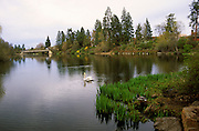 Image of Mirror Pond from Drake Park along the Deschutes River in Bend, Oregon, Pacific Northwest by Andrea Wells