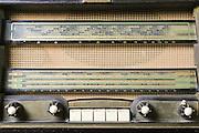 Cutout of a retro Schneider radio receiver on white background