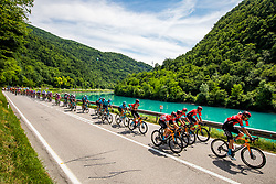 Peloton during the 4th Stage of 27th Tour of Slovenia 2021 cycling race between Ajdovscina and Nova Gorica (164,1 km), on June 12, 2021 in Slovenia. Photo by Vid Ponikvarj / Sportida