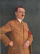 Adolf Hitler (1889–1945) Austrian-born German politician who led the National Socialist German Workers Party (Nationalsozialistische Deutsche Arbeiterpartei, NSDAP), more commonly known as the Nazi Party.  Chancellor of Germany (1933–1945) and Führer und Reichskanzler of Germany (1934–1945). Portrait  by Heinrich Knirr (1862-1944), 1935.
