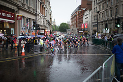 The peloton reaches Trafalgar Square in the ninth lap of the Prudential Ride London Classique - a 66 km road race, starting and finishing in London on July 29, 2017, in London, United Kingdom. (Photo by Balint Hamvas/Velofocus.com)