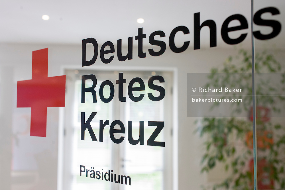 Entrance to the German Red Cross (Deutsches Rotes Kreuz - DRK) administrative HQ at 58 Carstennstrasse, Berlin.