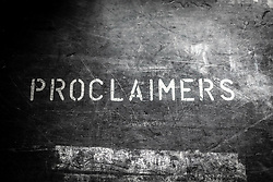 The Proclaimers at Edinburgh Castle 21 July 2019; The Proclaimers play their home town with a live show at Edinburgh Castle. Proclaimers stencilled on a shipping box for their equipment.<br /> <br /> (c) Chris McCluskie | Edinburgh Elite media