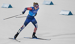 February 17, 2018 - Pyeongchang, KOR - Jessie Diggins of the United States during the Women's 4x5km Relay at Alpensia Cross-Country Centre during the Pyeongchang Winter Olympics on Saturday, Feb. 17, 2018. The USA finished in fifth place. (Credit Image: © Carlos Gonzalez/TNS via ZUMA Wire)