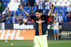 September 26, 2018 - Leo Messi of FC Barcelona during the La Liga (Spanish Championship) football match between CD Leganes and FC Barcelona on September 26th, 2018 at Municipal Butarque stadium in Madrid, Spain. (Credit Image: © AFP7 via ZUMA Wire)