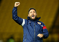 Bristol City head coach Lee Johnson celebrates the 3-2 victory over Watford  - Mandatory by-line: Robbie Stephenson/JMP - 22/08/2017 - FOOTBALL - Vicarage Road - Watford, England - Watford v Bristol City - Carabao Cup