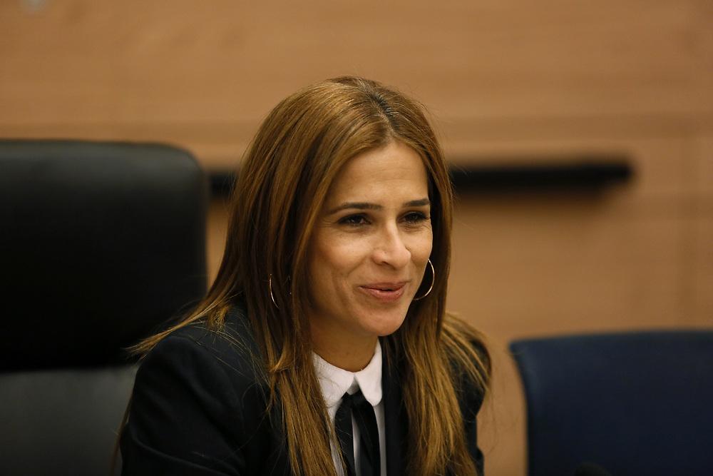 Israeli lawmaker, Knesset Member Merav Ben Ari, at the Knesset, Israel's parliament in Jerusalem, on May 30, 2016.