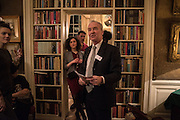 MELISSA TRICOIRE; THE DUKE OF BUCCLEUCH, The Walter Scott Prize for Historical Fiction 2015 - The Duke of Buccleuch hosts party to for the shortlist announcement. <br /> The winner is announced at the Borders Book Festival in Scotland in June.John Murray's Historic Rooms, 50 Albemarle Street, London, 24 March 2015.
