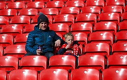 Liverpool fans in the stands ahead of the Premier League match at Anfield, Liverpool.