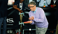 Microsoft founder Bill Gates plays table tennis as part of the Berkshire Hathaway annual meeting weekend in Omaha, Nebraska, U.S. May 7, 2017. REUTERS/Rick Wilking