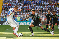 Gylfi Sigurdsson of Iceland and Marcos Rojo of Argentina during the 2018 FIFA World Cup Russia, Group D football match between Argentina and Iceland on June 16, 2018 at Spartak Stadium in Moscow, Russia - Photo Thiago Bernardes / FramePhoto / ProSportsImages / DPPI