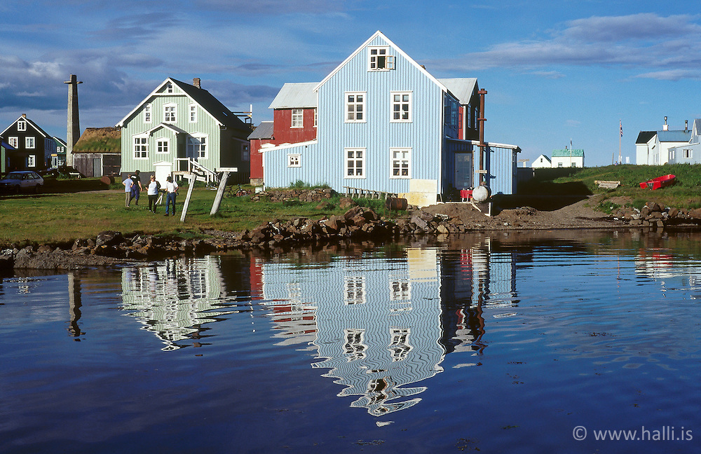 The island, Flatey in Breidafjordur, Iceland - Flatey á Breiðafirði