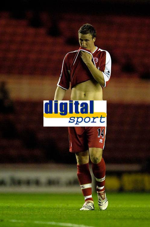 Photo: Jed Wee.<br /> Middlesbrough v Notts County. Carling Cup. 20/09/2006.<br /> <br /> Middlesbrough's Robert Huth makes his debut.