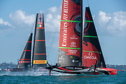 Emirates Team New Zealand and Luna Rossa Prada Pirelli Team race ten. Wednesday the 17th of March 2021. Copyright photo: Chris Cameron