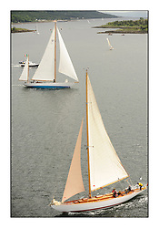 Day three of the Fife Regatta, Cruise up the Kyles of Bute to Tighnabruaich<br /> Latifa, 8, Mario Pirri, ITA, Bermudan Yawl, Wm Fife 3rd, 1936,<br /> Solway Maid, Roger Sandiford, GBR, Bermudan Cutter, Wm Fife 3rd, 1940<br /> * The William Fife designed Yachts return to the birthplace of these historic yachts, the Scotland's pre-eminent yacht designer and builder for the 4th Fife Regatta on the Clyde 28th June–5th July 2013<br /> <br /> More information is available on the website: www.fiferegatta.com