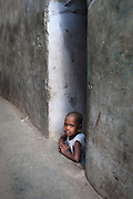 Boy in an Alley - Dharavi, Mumbai, India