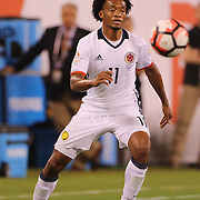 EAST RUTHERFORD, NEW JERSEY - JUNE 17:  Juan Cuadrado #11 of Colombia in action during the Colombia Vs Peru Quarterfinal match of the Copa America Centenario USA 2016 Tournament at MetLife Stadium on June 17, 2016 in East Rutherford, New Jersey. (Photo by Tim Clayton/Corbis via Getty Images)