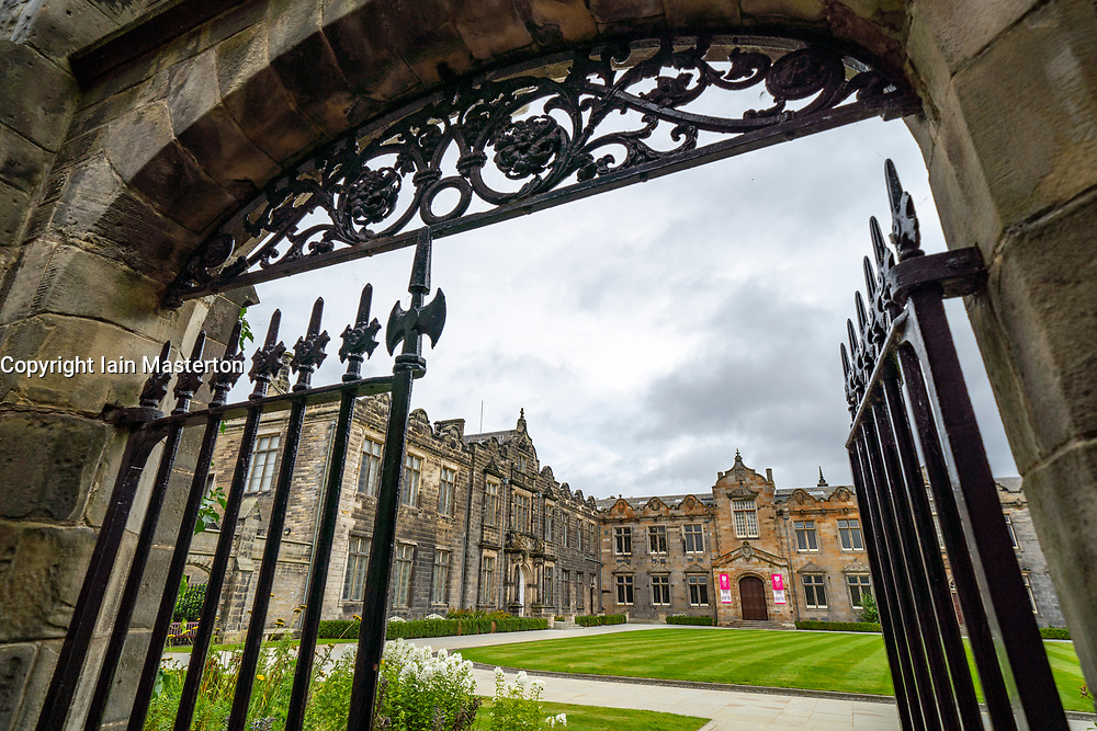 View of St Salvator's Quad ( Quadrangle) at St Andrews University, Fife, Scotland, UK