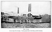 USS Tyler was originally a merchant ship named A. O. Tyler, a commercial side-wheel steamboat with twin stacks and covered paddles positioned aft. Constructed in Cincinnati, Ohio in 1857, it was acquired by the United States Navy, 5 June 1861 for service in the American Civil War and converted into the gunboat USS Tyler on 5 June 1861. She was commissioned in September 1861. She was protected with thick wooden bulwarks. She was present both at Fort Henry and Fort Donelson. from the book ' The Civil war through the camera ' hundreds of vivid photographs actually taken in Civil war times, sixteen reproductions in color of famous war paintings. The new text history by Henry W. Elson. A. complete illustrated history of the Civil war