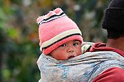 Madagascar, Northern Madagascar, Antsiranana (Diego-Suarez) portrait of a baby