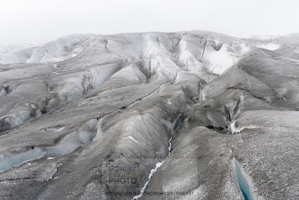 Structures on the glacier Grosser Aletschgletscher, Valais, Switzerland