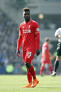 Daniel Sturridge of Liverpool looks on. Barclays Premier League match, Everton v Liverpool at Goodison Park in Liverpool on Sunday 4th October 2015.<br /> pic by Chris Stading, Andrew Orchard sports photography.