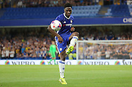 Chelsea defender Ola Aina (34) controlling ball during the EFL Cup match between Chelsea and Bristol Rovers at Stamford Bridge, London, England on 23 August 2016. Photo by Matthew Redman.