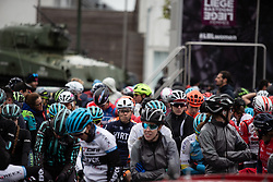 Sofia Bertizzolo (ITA) of Team Virtu Cycling at the start of the Liege-Bastogne-Liege Femmes - a 138.5 km road race, between Bastogne and Liege on April 28, 2019, in Wallonie, Belgium. (Photo by Balint Hamvas/Velofocus.com)
