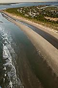 Aerial view of Sullivan's Island, SC.