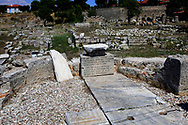 The South Stoa in Ancient Corinth.  The place where it is believed that St Paul preached to the Corinthians