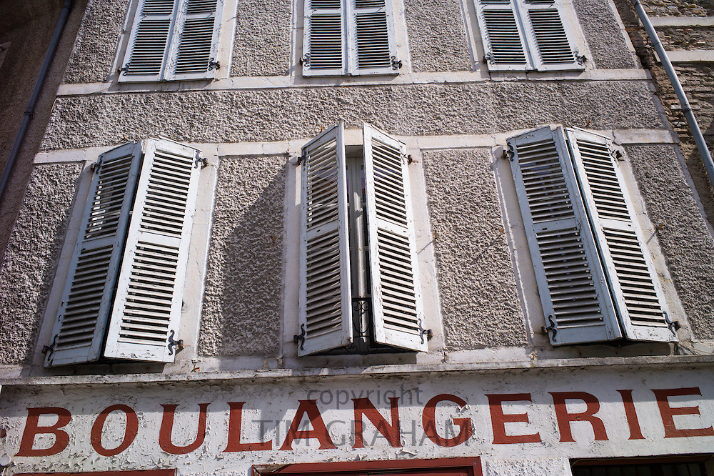 French Boulangerie bread shop and traditional architecture in the streets of Pau in the Pyrenees, France