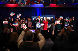 November 6, 2018 - Wilmington, Delaware, United States of America - Incumbent Democrat TOM CARPER addresses supporters during Democrat Watch Party Tuesday, Nov. 06, 2018, at the Doubletree Hotel in Wilmington, Delaware. (Credit Image: © Saquan Stimpson/ZUMA Wire)