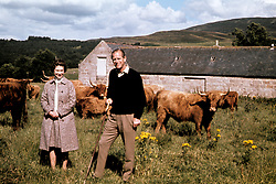 File photo dated 01/09/72 of Queen Elizabeth II and the Duke of Edinburgh during a visit to a farm on their Balmoral estate, to celebrate their Silver Wedding anniversary. He was the Queen's husband and the royal family's patriarch, but what will the Duke of Edinburgh be remembered for? Issue date: Friday April 4, 2021.