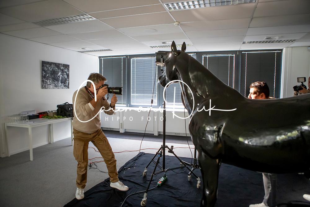 Henk van Cauwenbergh, Robin Cool<br /> Foto shoot met Henk van Cauwenbergh voor KBRSF - Zaventem 2018<br /> © Hippo Foto - Dirk Caremans<br /> 01/05/2018