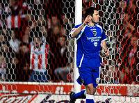 Photo: Alan Crowhurst.<br />Southampton v Cardiff City. Coca Cola Championship. 13/03/2007. Cardiff's Steven Thompson celebrates his goal 2-1.
