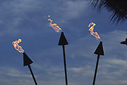 Tiki Torches, Hawaii, USA<br />