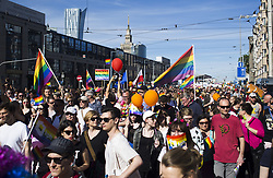 June 3, 2017 - Warsaw, Poland - People during 17th Equality Parade (Parada Rownosci) in Warsaw on June 3, 2017. (Credit Image: © Krystian Dobuszynski/NurPhoto via ZUMA Press)