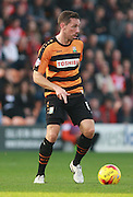 Barnet player Tom Champion looks for an opening during the Sky Bet League 2 match between Barnet and Exeter City at The Hive Stadium, London, England on 31 October 2015. Photo by Bennett Dean.