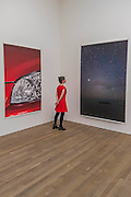 Headlight 2012 and Munuwata sky 2011 - Wolfgang Tillmans: 2017. Tate Modern's new exhibition. Highlights include: large scale photographic works printed especially for this exhibition, including the four-meter tall Weed 2014 and dramatic seascapes such as The State We're In, A 2015;   New 'text and table' sculptures including Time Mirrored 3 2017, on display to the public for the first time; and slide projection Book for Architects 2014. The show is at Tate Modern from 15 February to 11 June 2017.