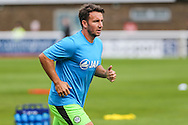 Forest Green Rovers Matt Tubbs (20) warming up during the Vanarama National League match between Dover Athletic and Forest Green Rovers at Crabble Athletic Ground, Dover, United Kingdom on 10 September 2016. Photo by Shane Healey.